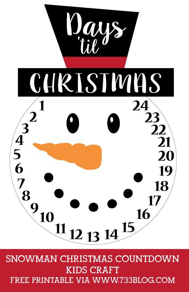 diy snowman christmas countdown kids craft inspiration made simple