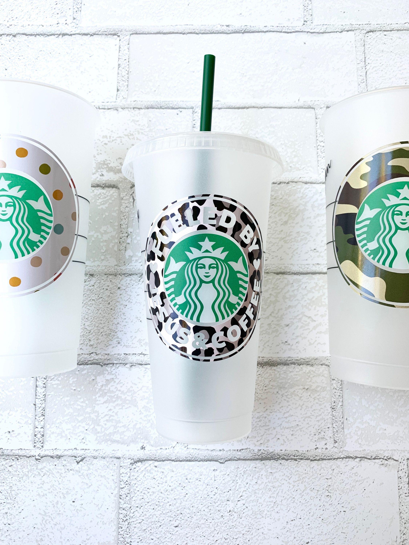 JESUS AND COFFEE Starbucks Cold Cup, Christian Coffee Mug