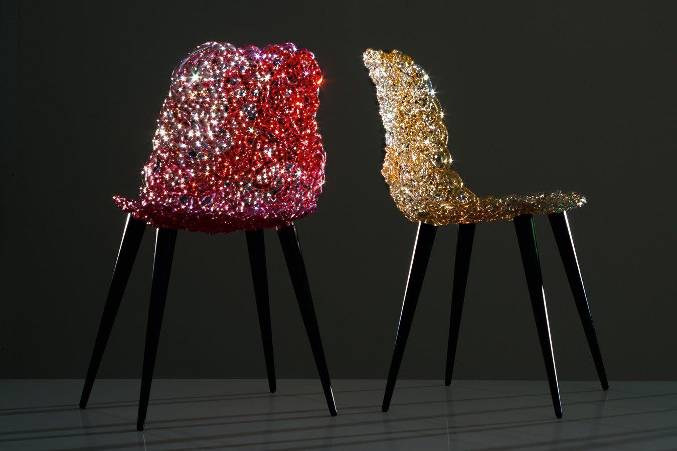 Edra mobili ~ Silla #gina en intrincado policarbonato diseñada por jacopo