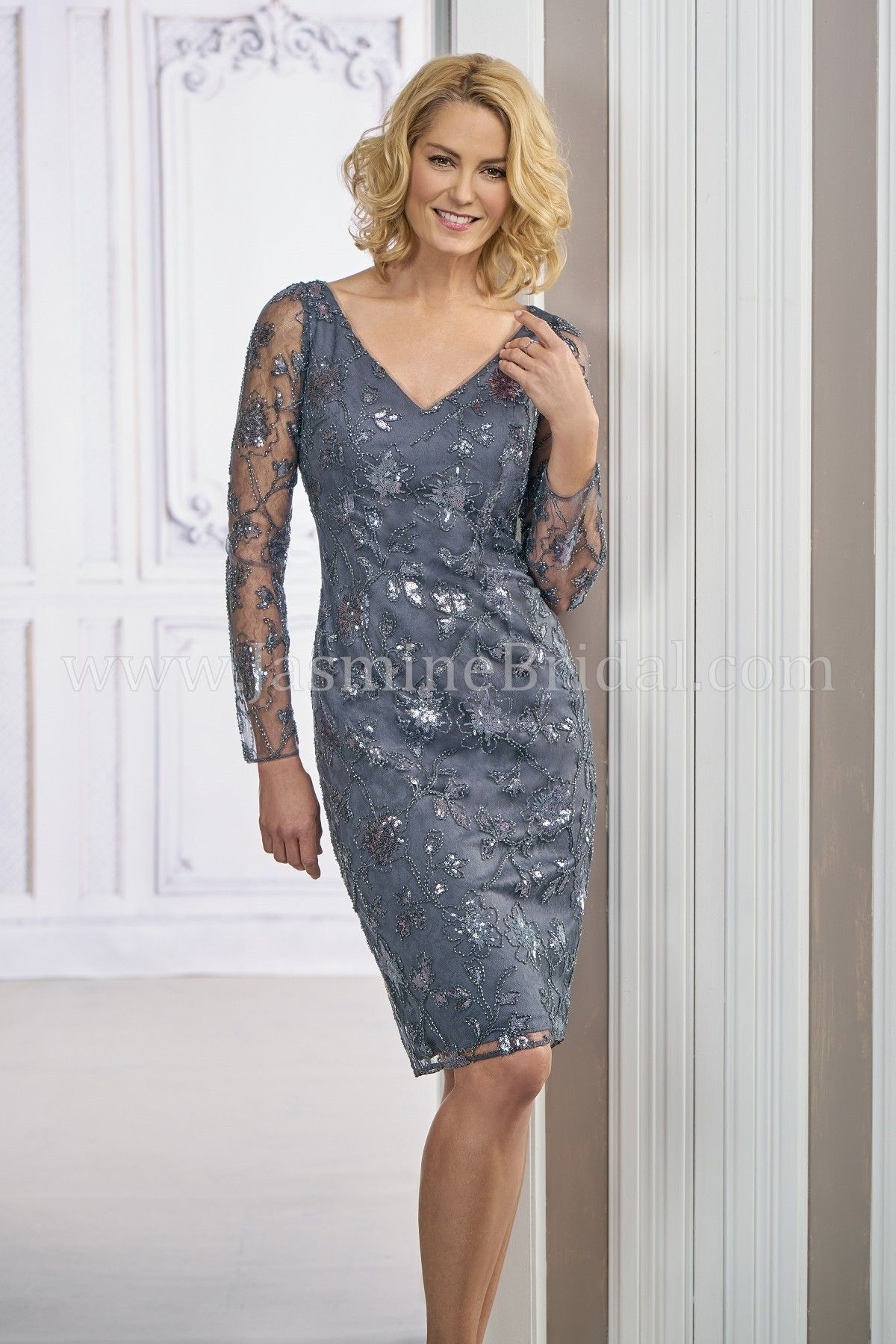 Jasmine Bridal Black Label Style M190011 In Caroline Sequin Lace With Stretch Lining