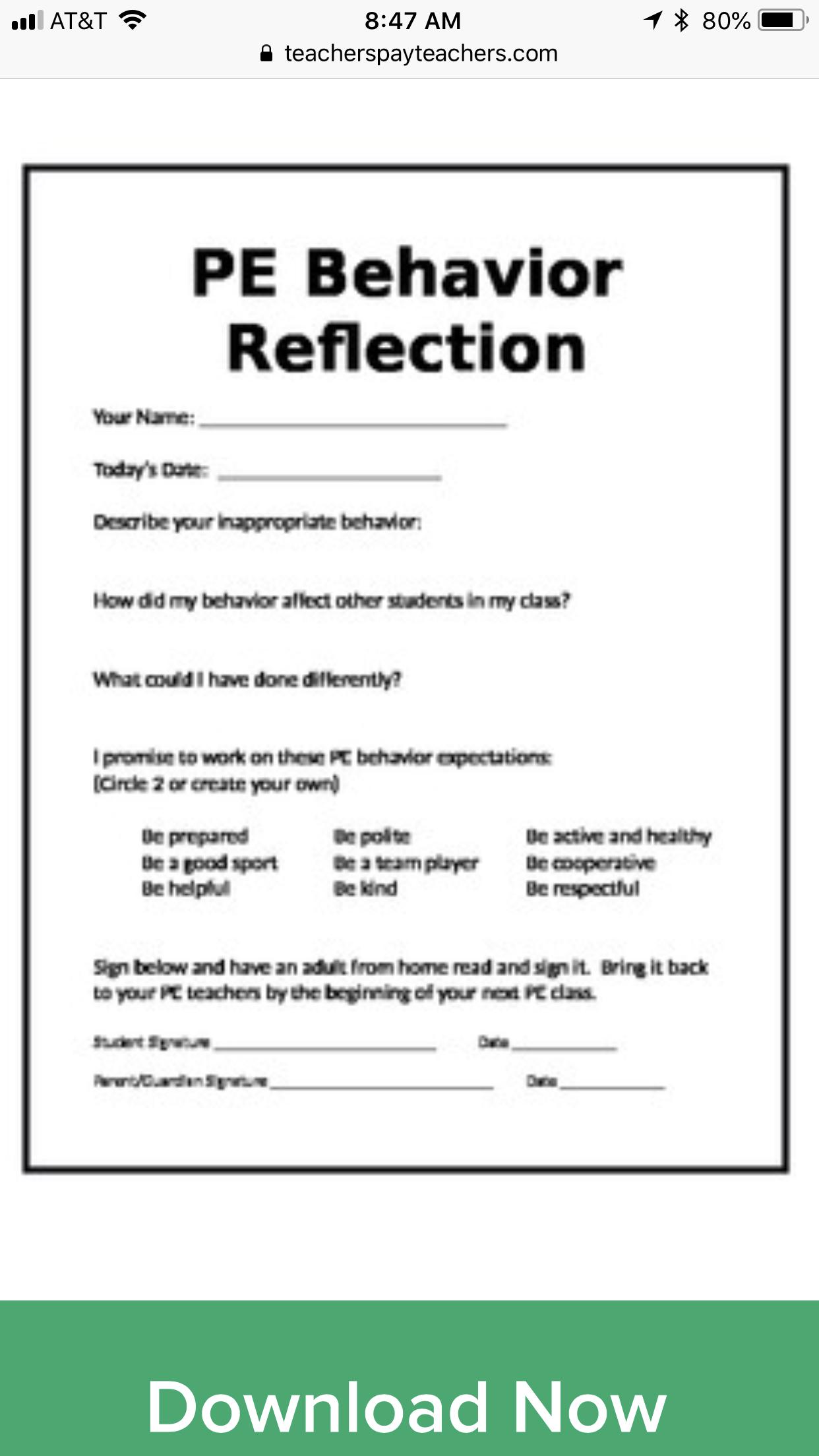 Gr 3 5 Reflection Paper