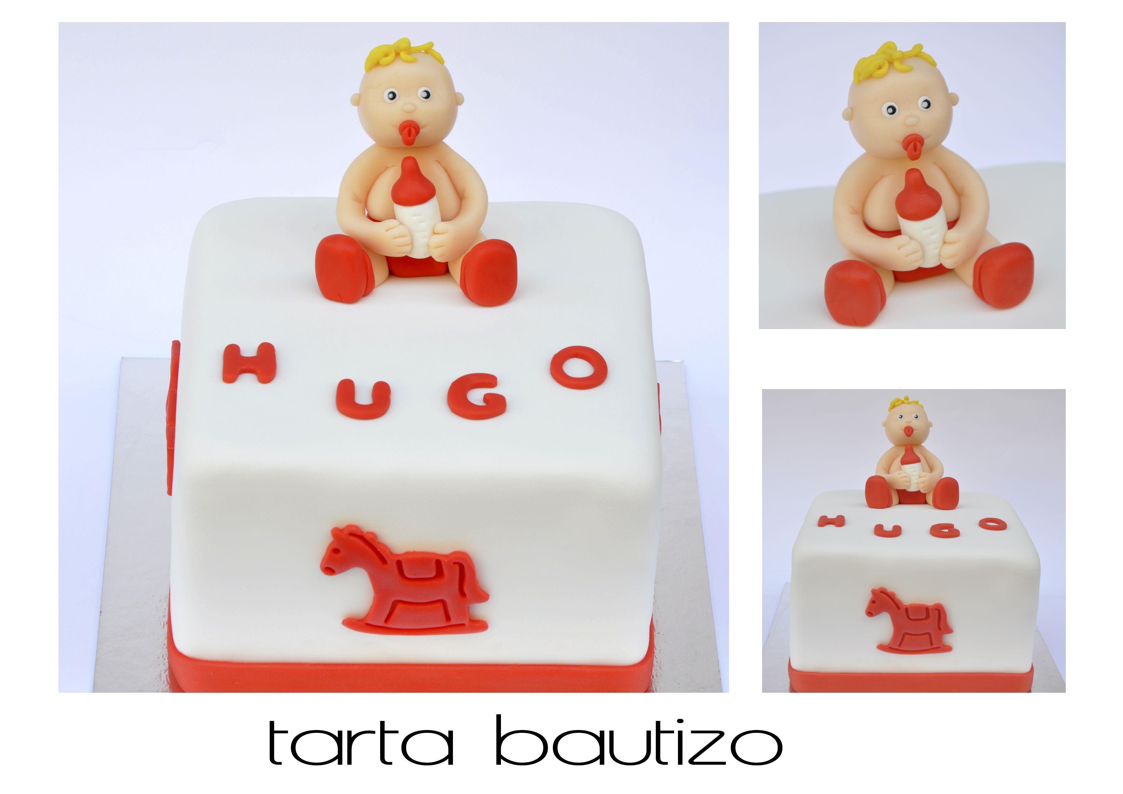 tarta bautizo, roja, original, madrid. acaramelada.com