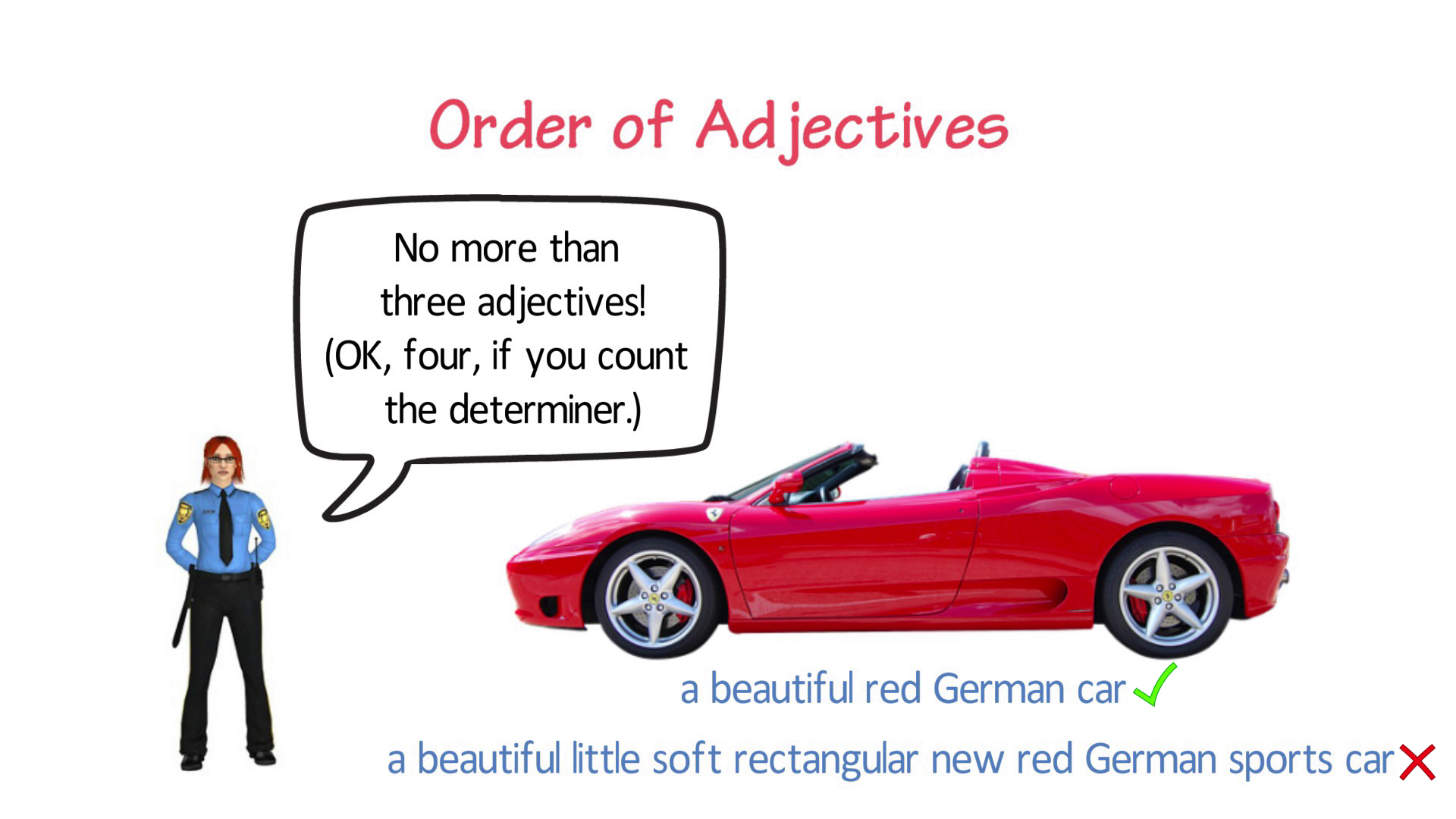 Order Of Adjectives Simple Grammar Rules