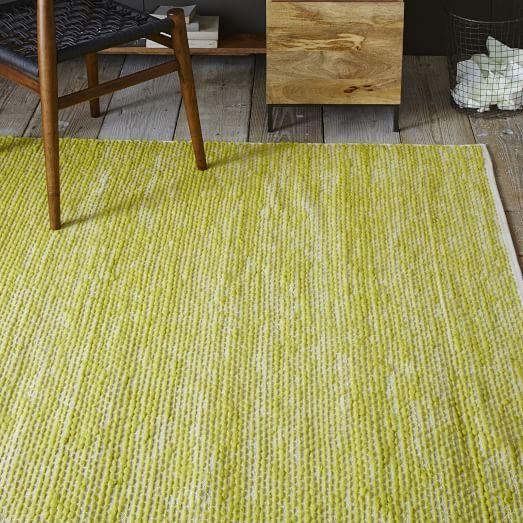 Painter S Cotton Wool Rug Sun Yellow West Elm Modern Wool Rugs Rugs Modern Area Rugs