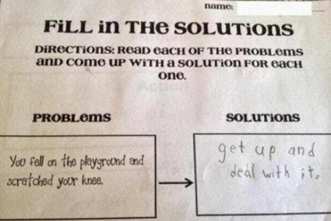 Hilarious Test Answers From Kids