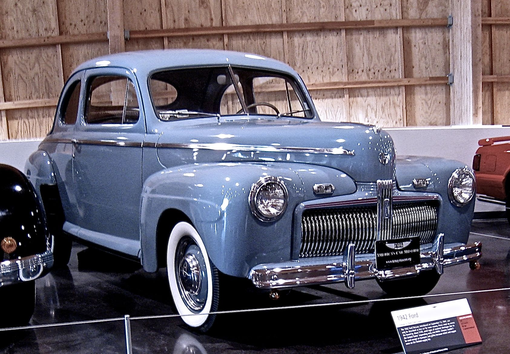 1942 Ford Super Deluxe Sedan Coupe An Outstanding Example On Display At The Lemay Automobile Museum Ford Classic Cars Cool Old Cars Classic Cars Vintage