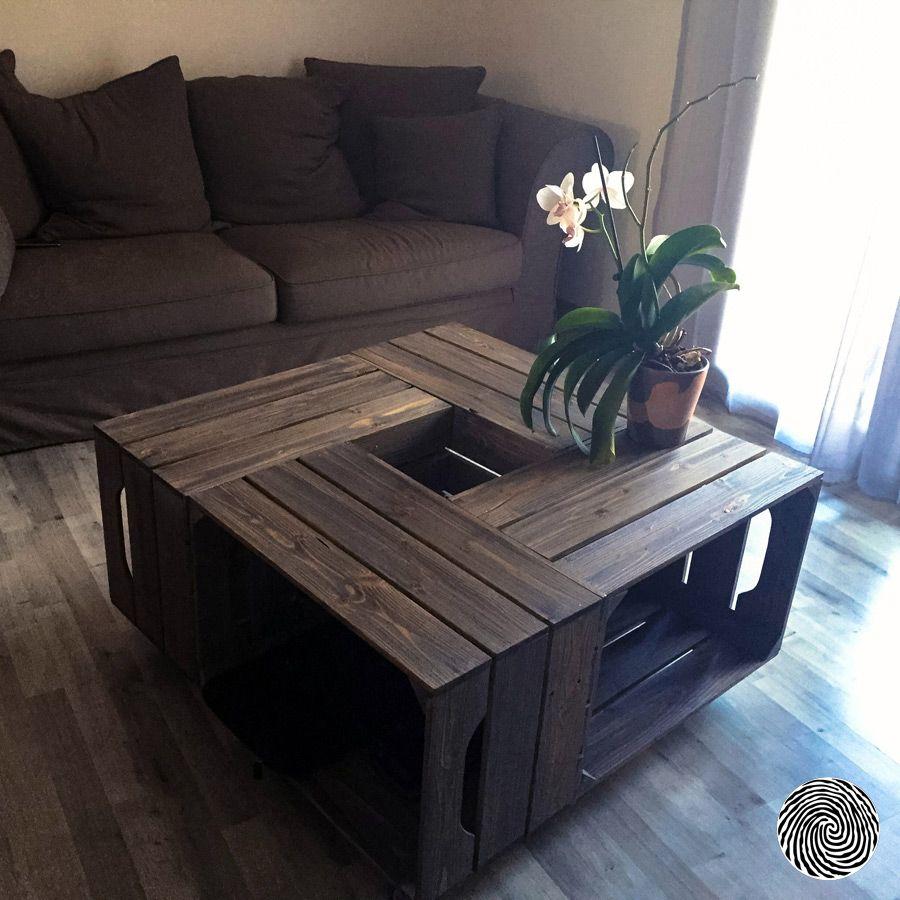table basse 4s i caisse en bois meuble mobilier. Black Bedroom Furniture Sets. Home Design Ideas