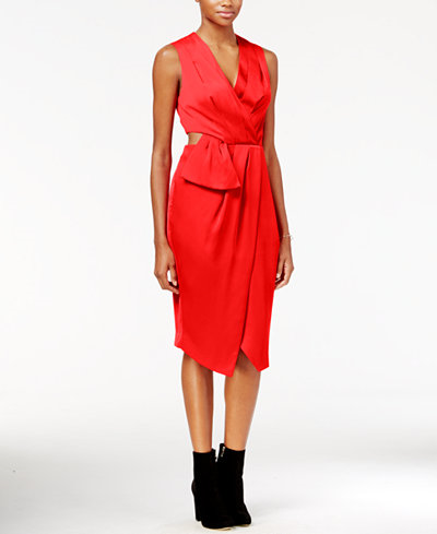 39.99$  Watch here - http://vibba.justgood.pw/vig/item.php?t=k3b4q6g11763 - Cutout Faux-Wrap Dress, Only at Macy's 39.99$