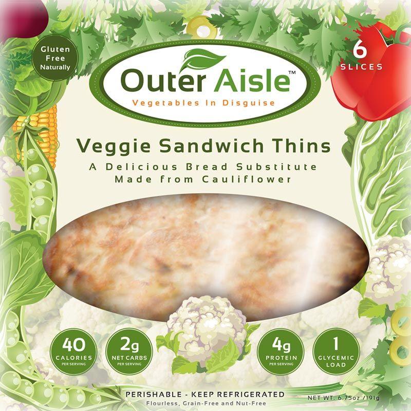 Cauliflower sandwich thins sandwich thins wheat free