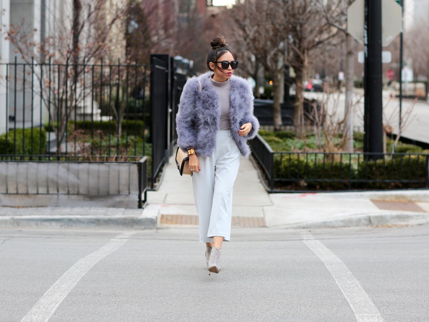 5341663b9 grey ostrich feather coat