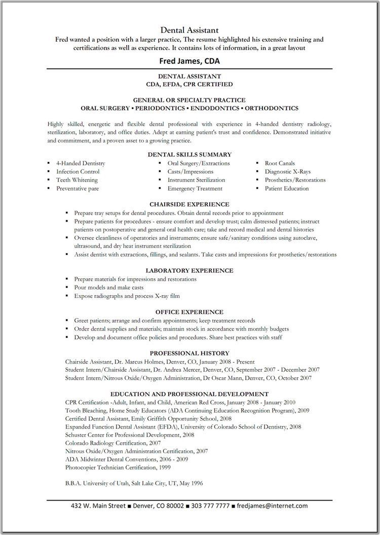 Resume Examples For Dental Assistants Pindaniela Vega On Dental Assistant ♡  Pinterest  Dental .