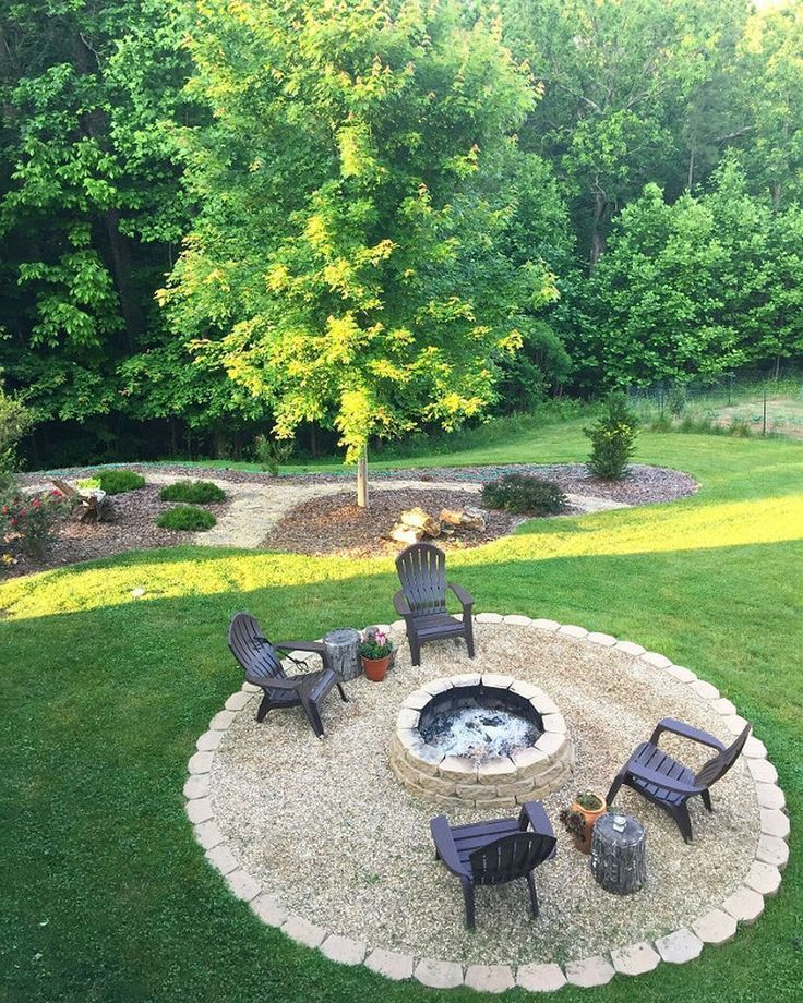 Easy Fire Pit Backyard Ideas (23) #deckideas | Outdoor ...