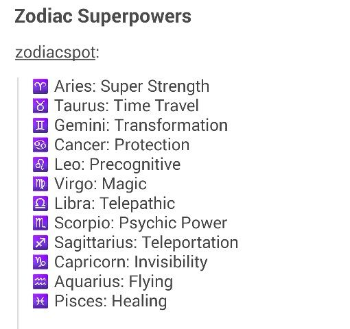 Zodiac Superpowers | Miscellaneous | Pinterest