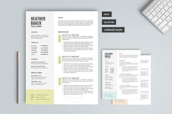 Check Out The Heather  Resume Template Pk By Pixel  Oak On