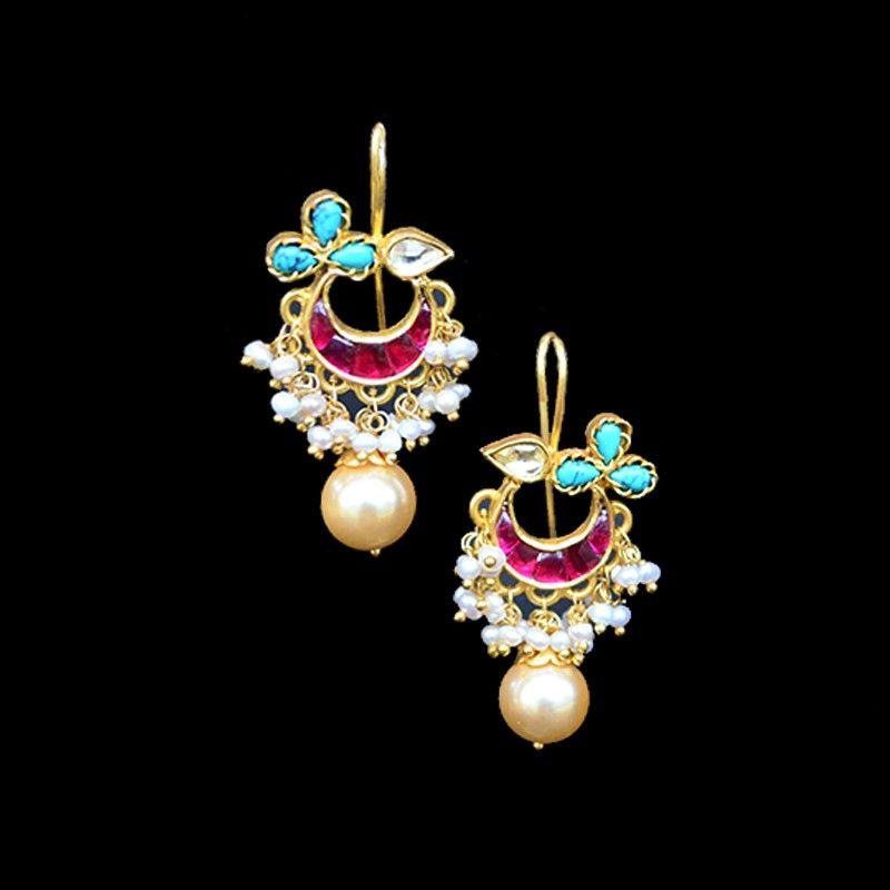 Uma Kundan Drop Earrings Dream jewelry Pinterest Drop earrings