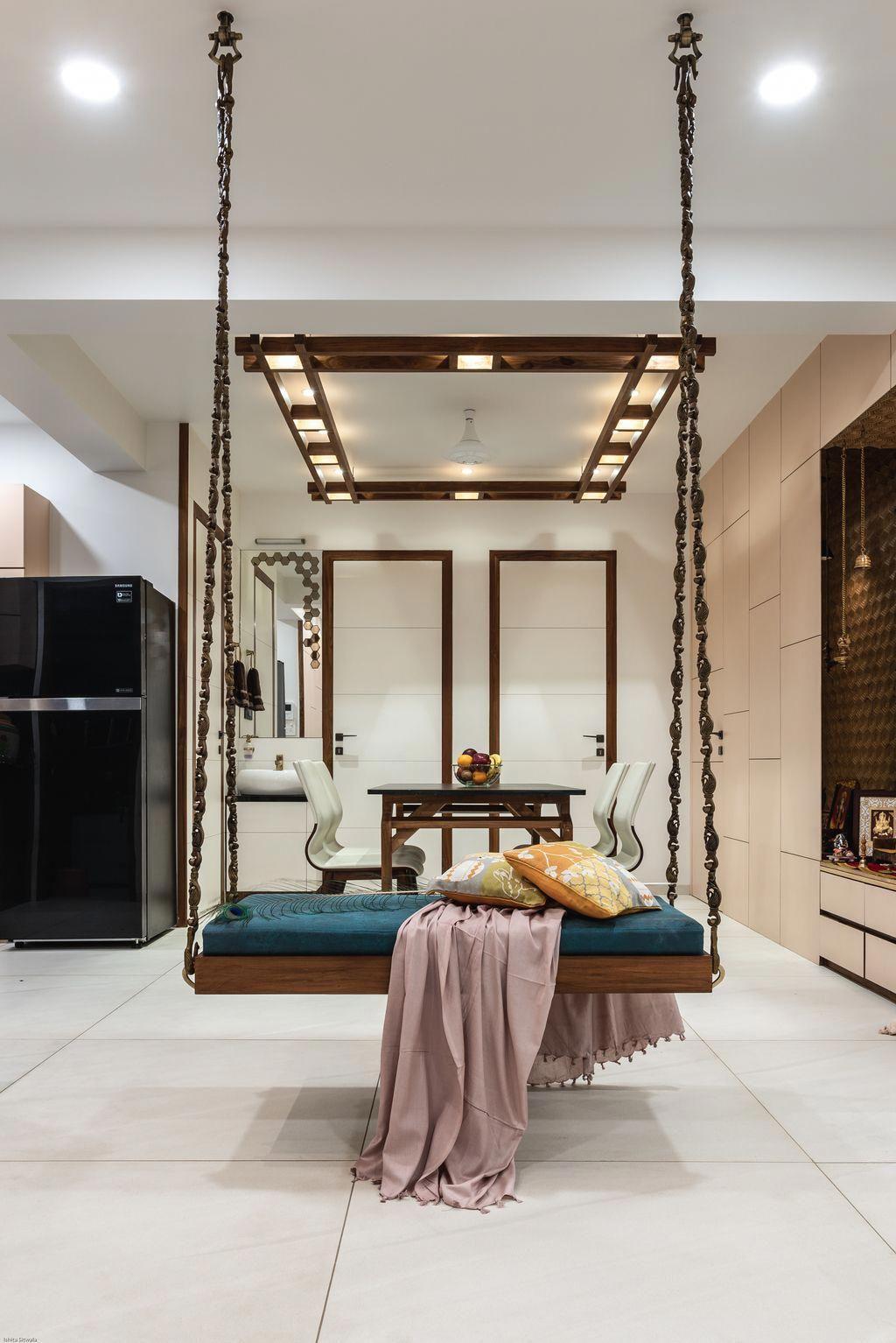 Pavan infratech exteriordesignapartment wooden swings swing seat indian home decor also interior rh pinterest