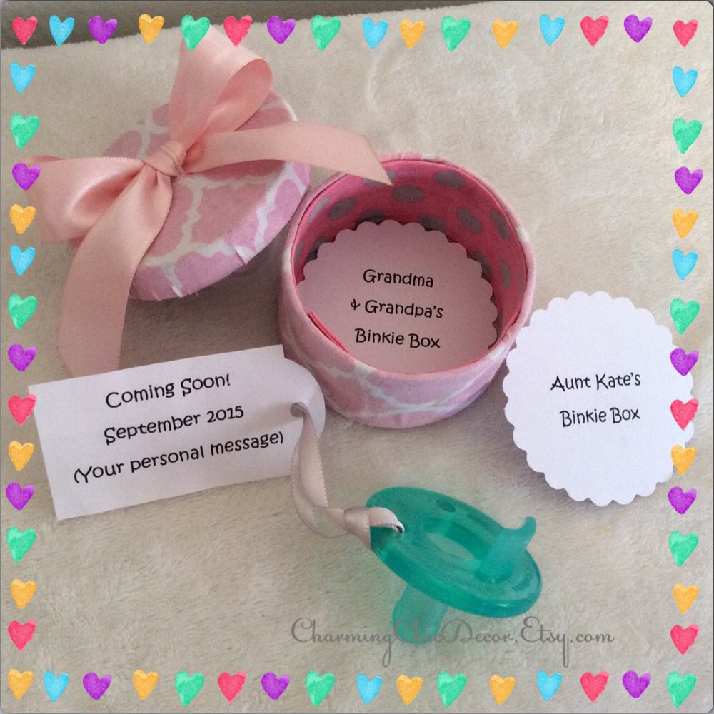 Cute Binkie Box Pregnancy Announcement This Adorable Sweet Gift