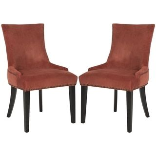 Safavieh En Vogue Dining Lester Rust Side Chairs (Set of 2)