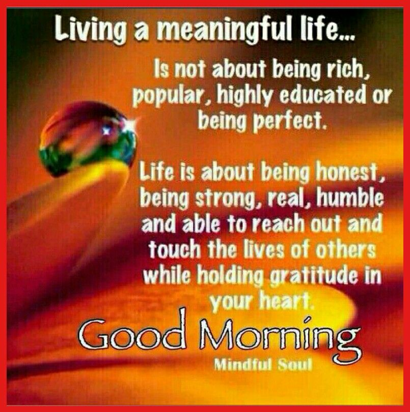Life Quotes For Good Morning: Good Morning Saved By SRIRAM