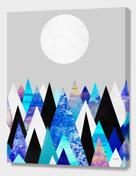 """Blue Peaks 2"", Numbered Edition Canvas Print by Elisabeth Fredriksson - From $89.00 - Curioos"