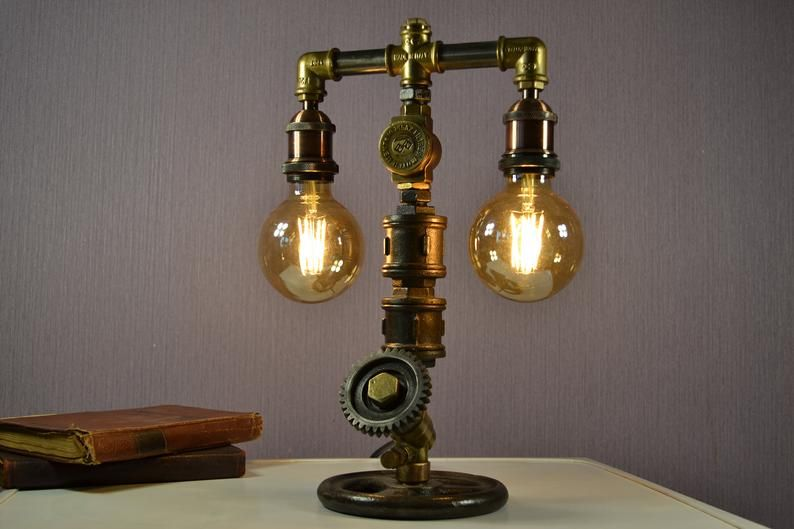 Industrial Style Lamp From Old Parts Industrial Style Lamps