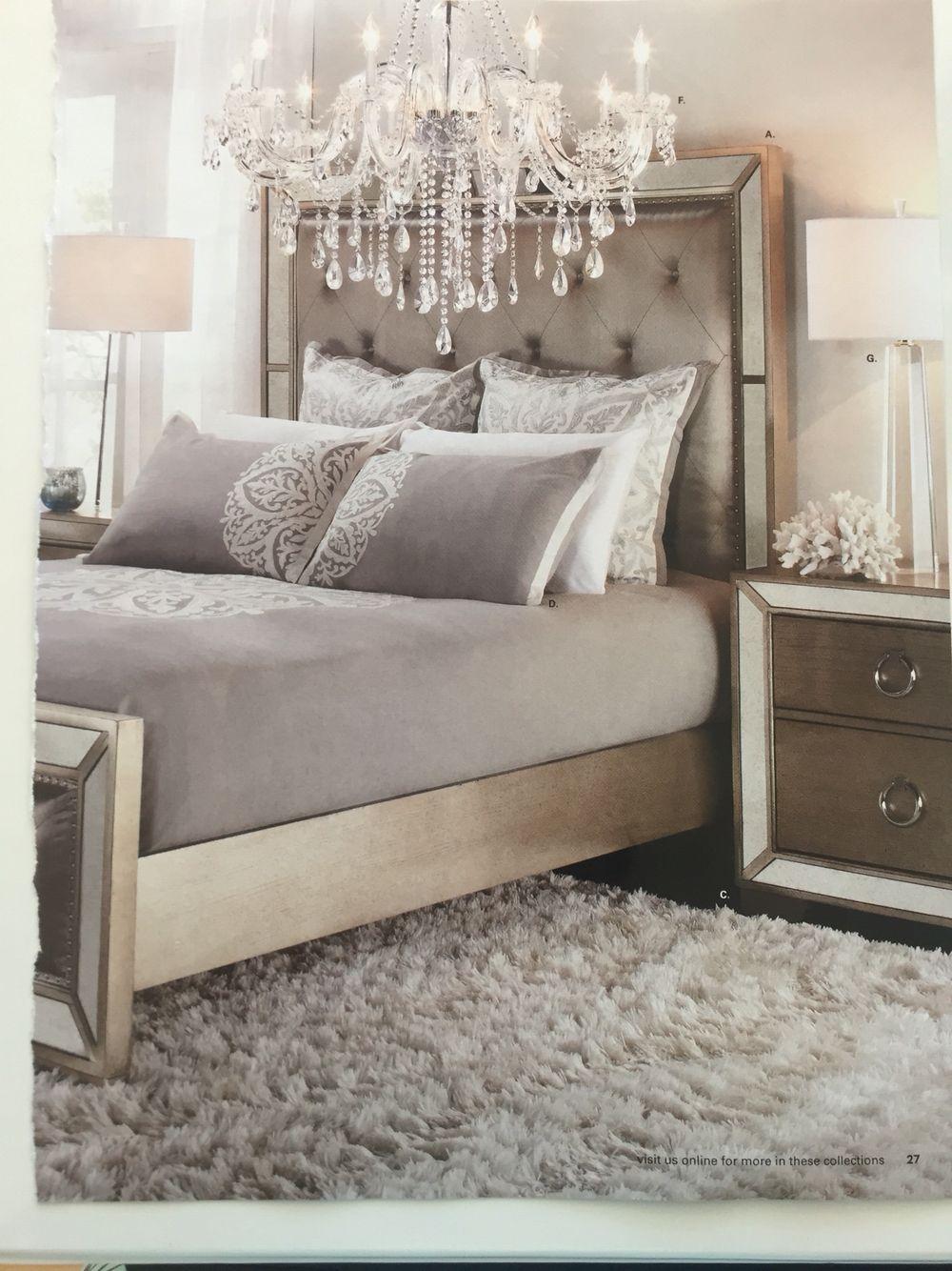 chandelier from z gallerie  luxury bedroom design
