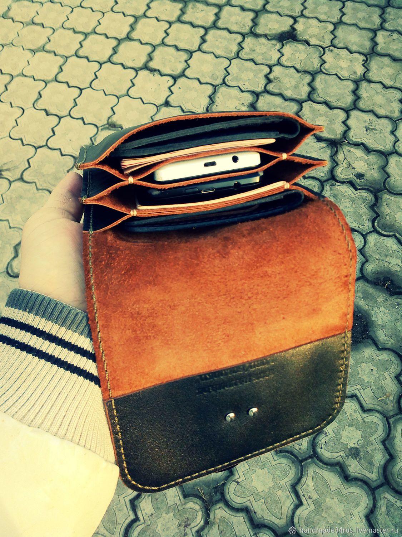 d6e9de6b9387 Мужские сумки ручной работы. Сумка мужская кожаная.Поясная-наплечная.  Кожаные изделия.