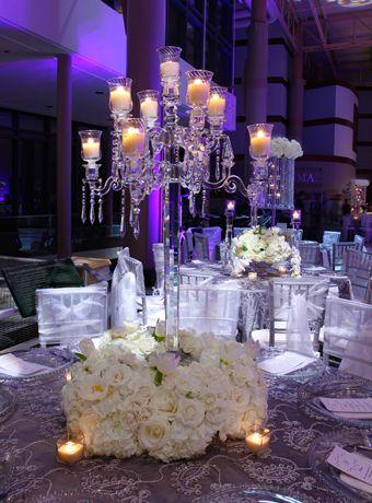 Wedding Table Arrangements Arms Crystal Candelabra Candle Holder