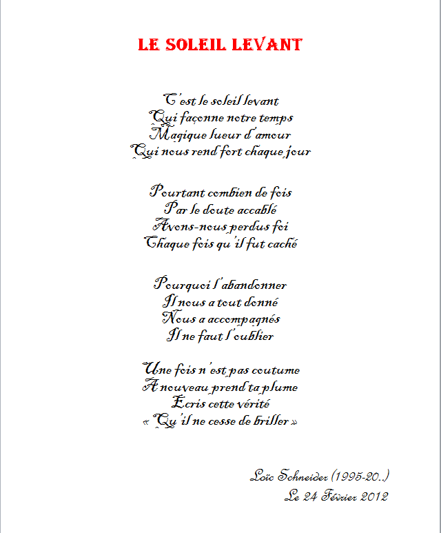 //9 Le Soleil Levant #poeme #poesie #soleil Mes Poèmes