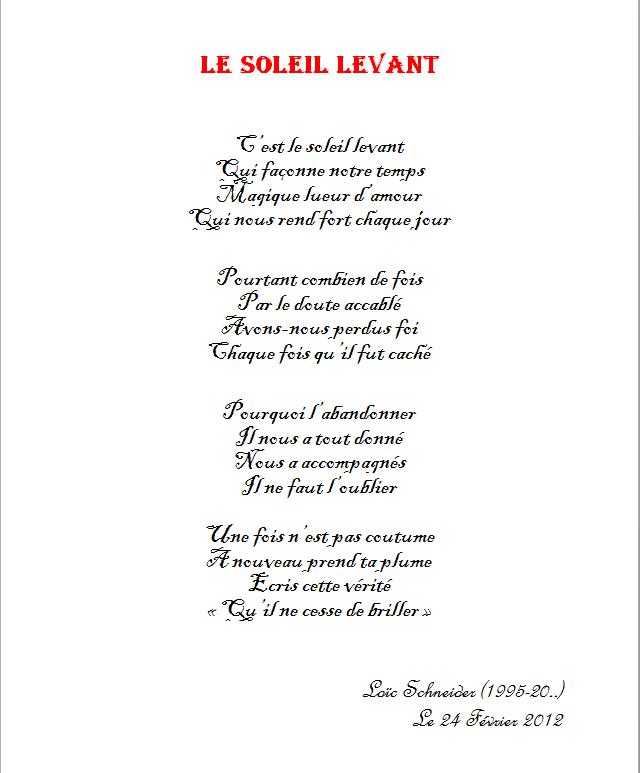 9 Le Soleil Levant Poeme Poesie Soleil