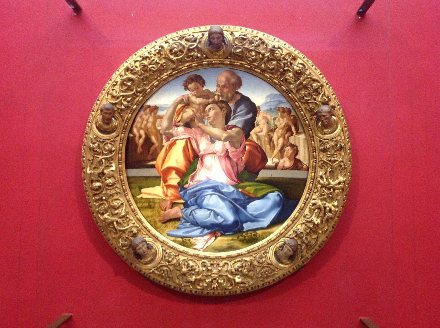 Tondo Doni - Firenze, Galleria degli Uffizi, Sala Michelangelo - nuovo allestimento (foto Valentina Grandini)