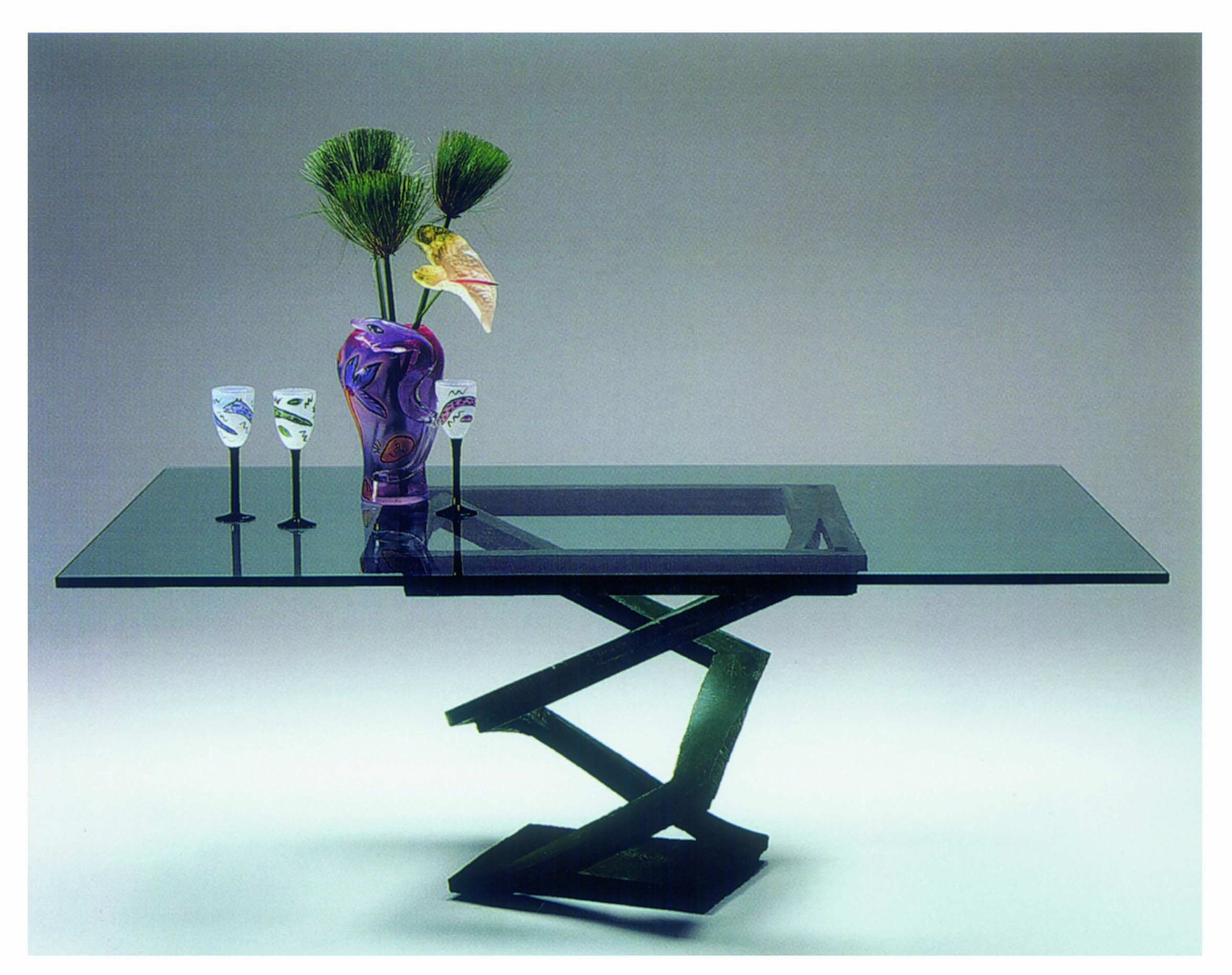 Roche Bobois Fleur De Fer Dining Table Designed By Maurice Barilone 1980s Roche Table Maurice
