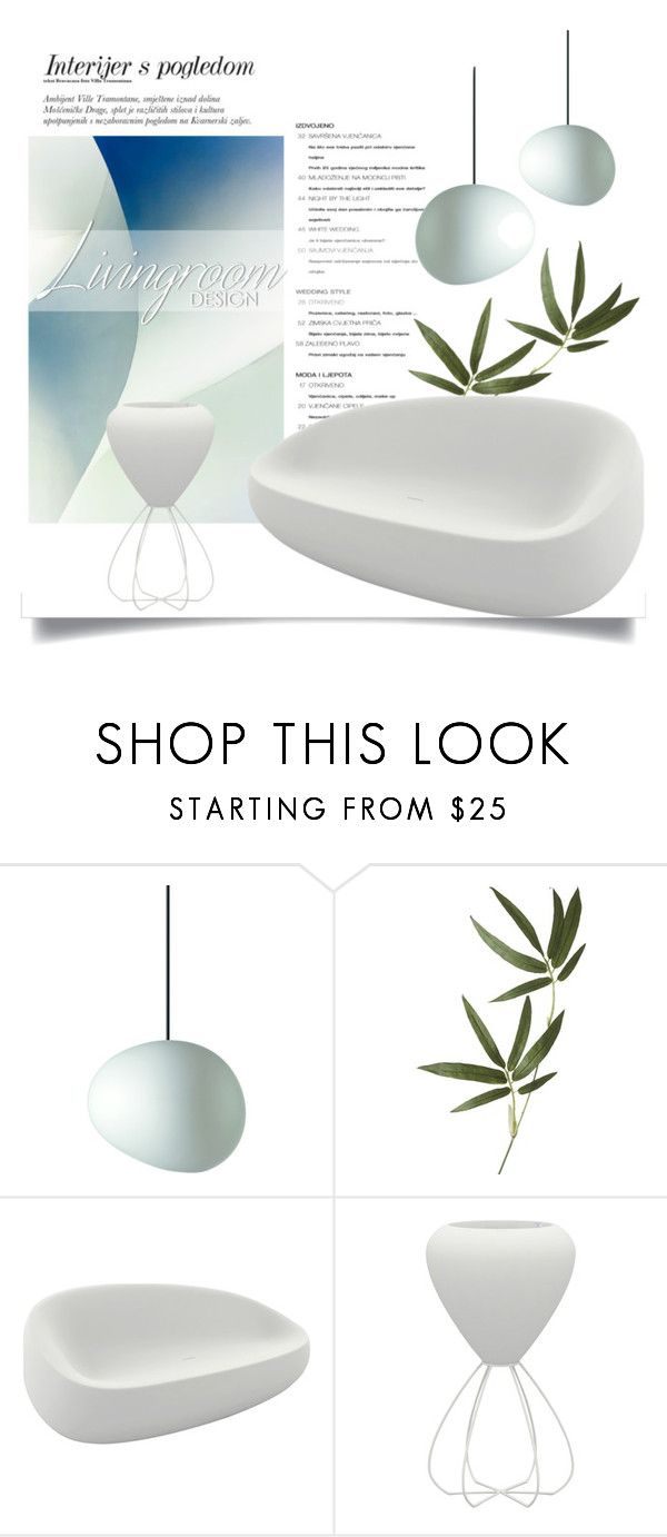 """""""Living Room Design: Modern"""" by pattykake ❤ liked on Polyvore featuring interior, interiors, interior design, home, home decor, interior decorating, Foscarini, Crate and Barrel, Vondom and living room"""