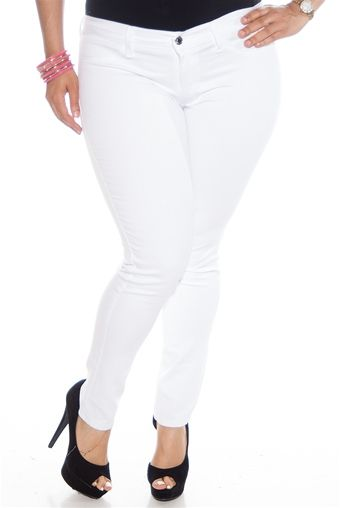 82a6389d138 Rumors Plus Size Skinny Jeans - White from Kancan USA at Lucky 21 ...