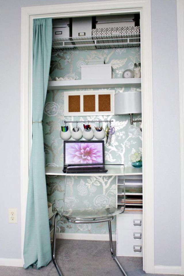 I Love The Closet Office Idea!