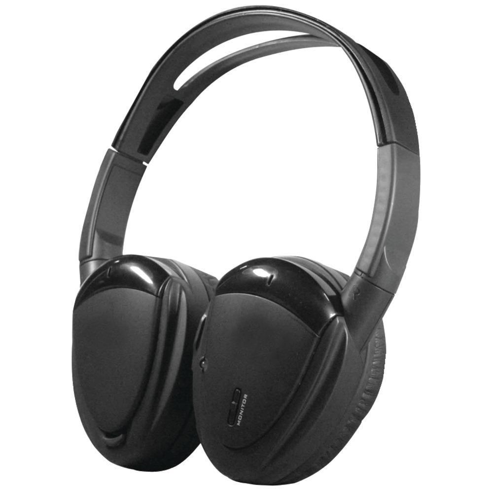 Power Acoustik 2-channel Rf 900mhz Wireless Headphones With Swivel Earpads POWHP900S