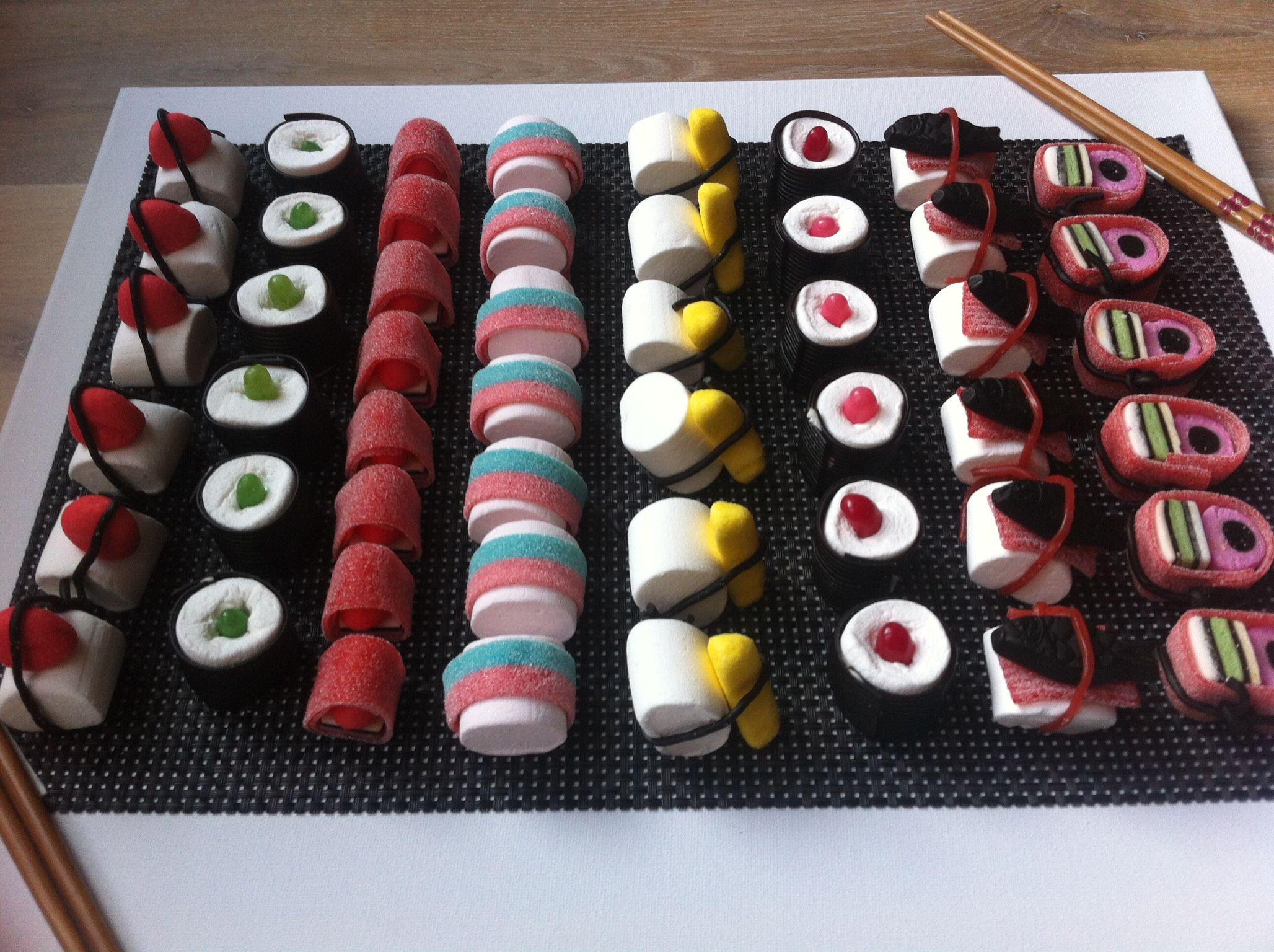Snoep sushi   ~ Traktaties ~   Pinterest   Candy sushi ... Smarties Verpakking