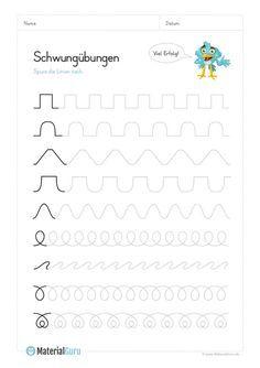 ein kostenloses arbeitsblatt mit schwung bungen und verschiedenen mustern zum klassischen. Black Bedroom Furniture Sets. Home Design Ideas