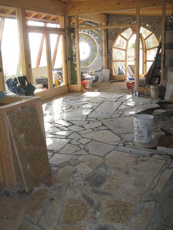 Granite Mosaic Floor Mosaic Flooring Earthship Recycled
