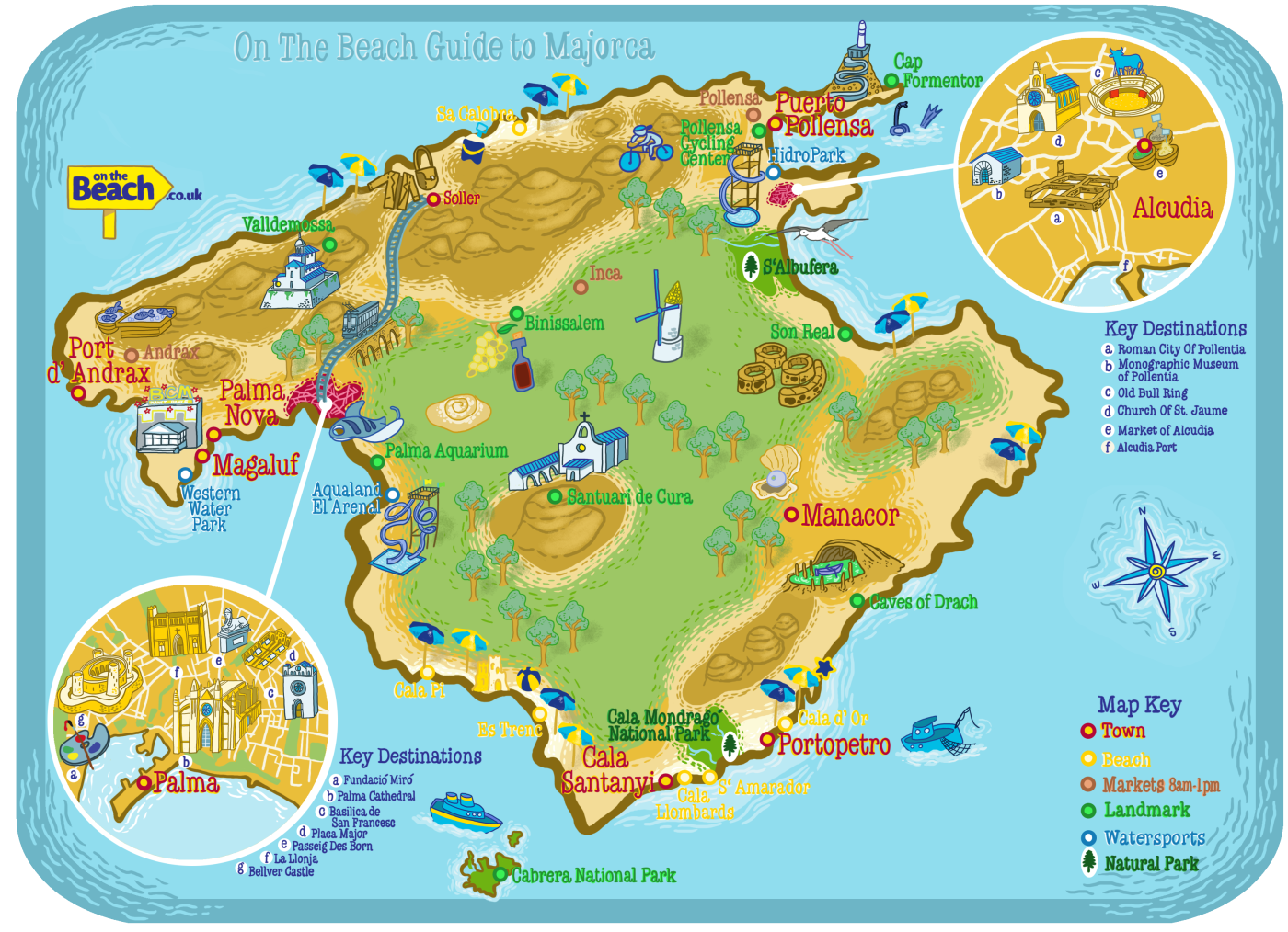Use our family friendly guide and hand drawn map of the island to