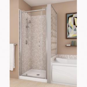 Porte de douche et base sensation cloison en blocs de verre salle de bain salle de bain - Cloison douche verre ...