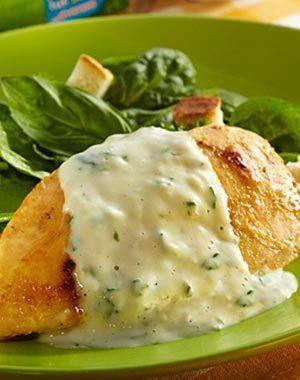 Pechuga de pollo con salsa de espinaca recipe food - Pechuga d pollo en salsa ...