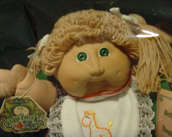 Items similar to Vintage Cabbage Patch Kids Koosas Cat on Etsy