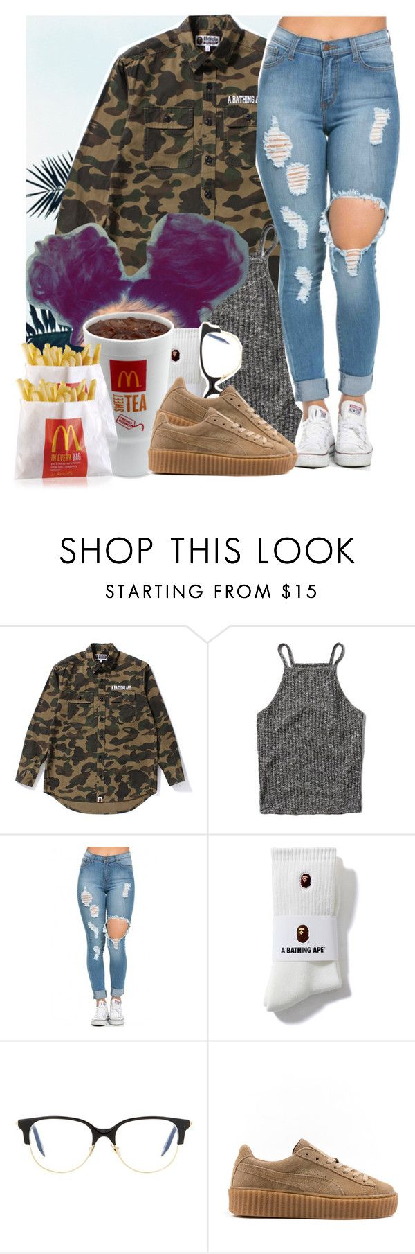 """"""""""" by drakeschild ❤ liked on Polyvore featuring Prada, Abercrombie & Fitch, Victoria Beckham, Puma and CO"""