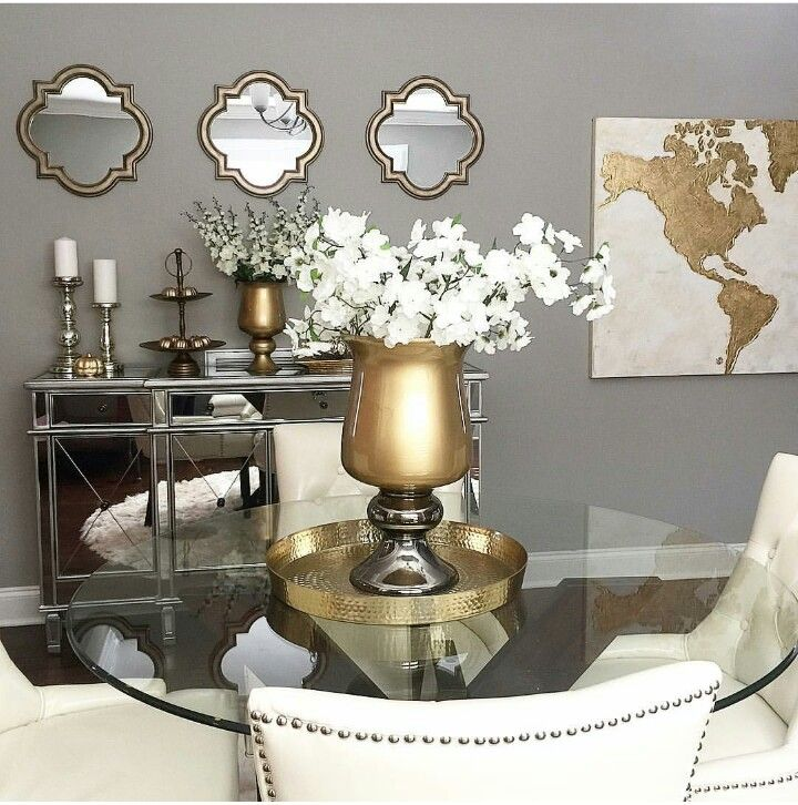 Gold And Silver Dining Room, Gold Dining Room Ideas