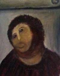 El Ecce Homo por Cecilia. Borja, España.