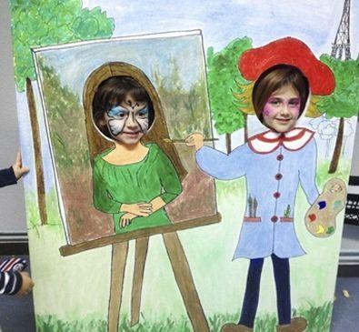 photocall o marco para fotos imagen en cartn para tomarse fotos en fiestas infantiles