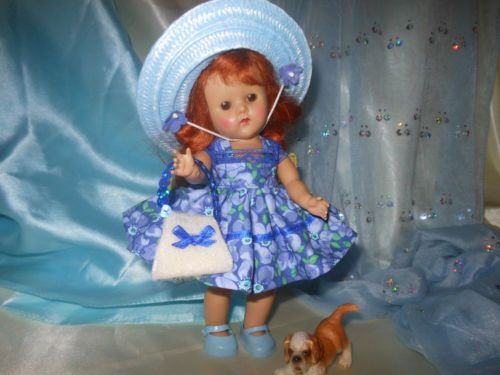 Doll outfit, clothes,dress,purse, hat fits Ginnie, all 7 to 8 in. dolls.