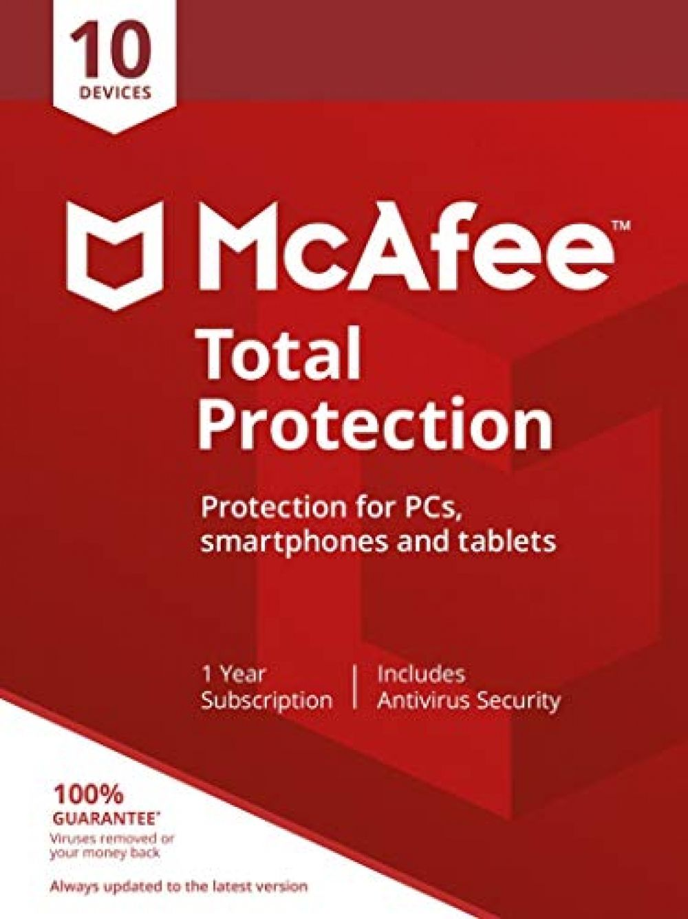 Mcafee Total Protection 10 Devices Pc Mac Android Smartphones Activation Code By Post Smartphone Coding Mcafee