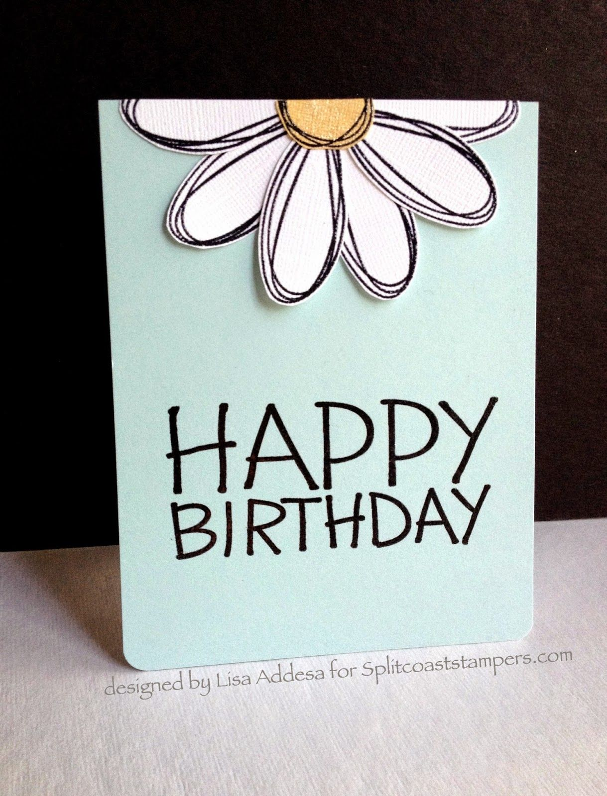 Happy New Year!Happy Birthday!  Simple cards, Bday cards